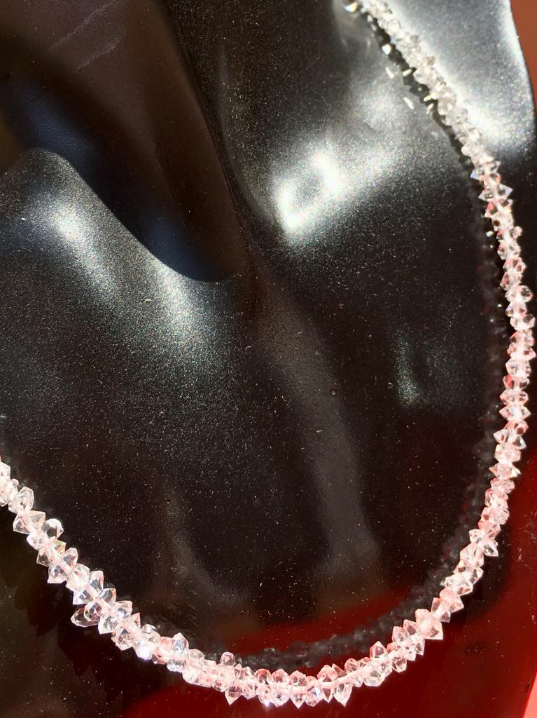 Girocollo di Diamante di Herkimer, Quarzo, IStone