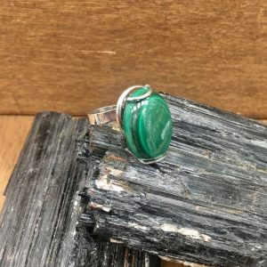 Anello Malachite oval, IStone