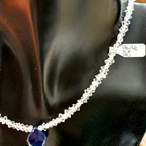 Girocollo Diamante Herkimer goccia Zaffiro, IStone
